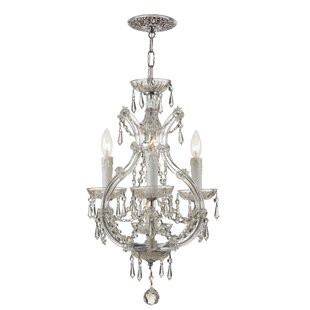 House of Hampton Griffiths 3-Light Candle Style Chandelier
