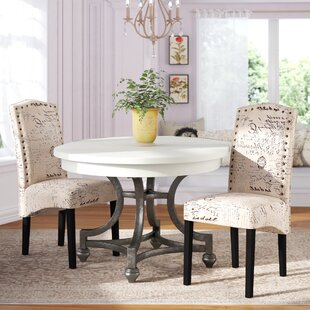 Compare & Buy Wachapreague Script Upholstered Dining Chair (Set of 2) by Ophelia & Co. Reviews (2019) & Buyer's Guide