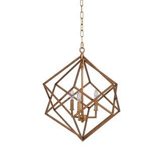 Ojas Geometric 3-Light Geometric Chandelier