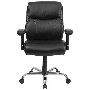 Symple Stuff Laduke High-Back Leather Desk Chair