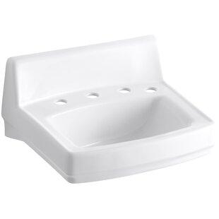 Best Price Greenwich Ceramic 21 Wall Mount Bathroom Sink with Overflow By Kohler