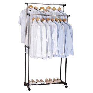 Check Prices 34 W Adjustable Garment Rack By Rebrilliant