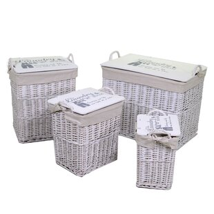 Donald 4 Piece Wicker Laundry Set By August Grove
