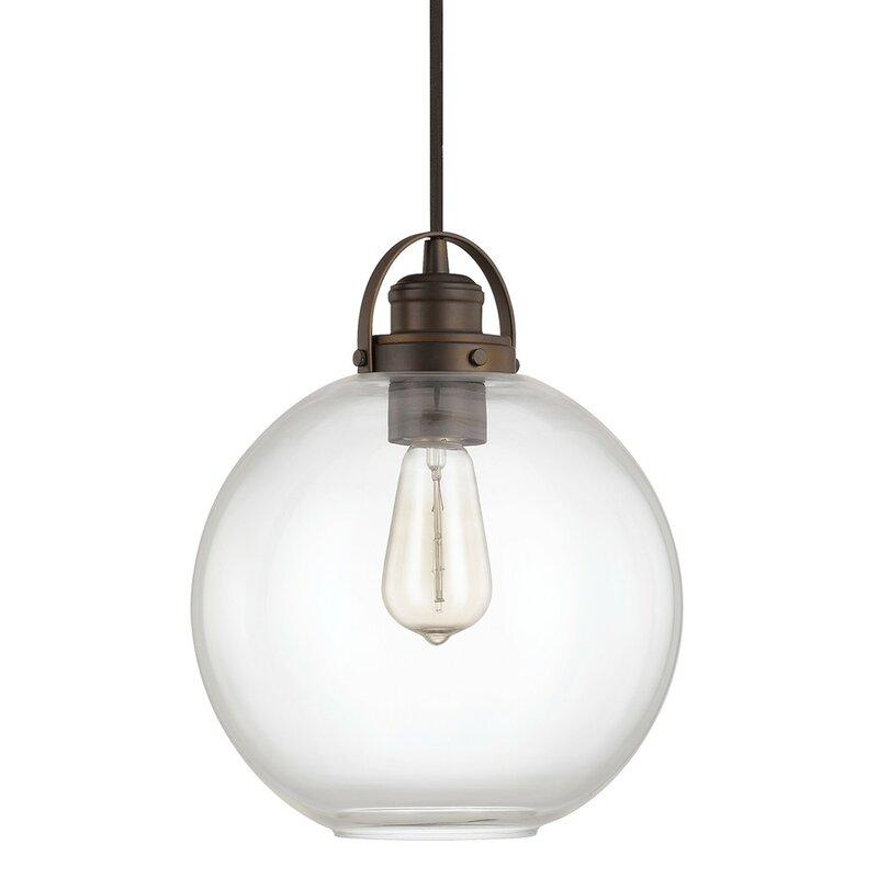 Image of Caster 1-Light Globe Mini Pendant up to 33% off