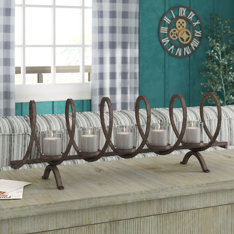 Laurel Foundry Modern Farmhouse Iron And Glass Candelabra Reviews Wayfair