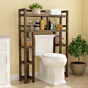 Guide to buy Corte 34.46 W x 48 H Wood Bathroom Shelf By Charlton Home