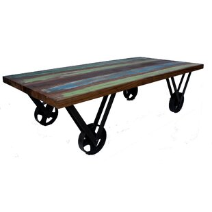 Hashmi Old Painted Teak Coffee Table By World Menagerie