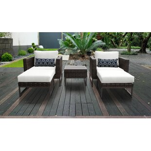 Barcelona Outdoor 5 Piece Seating Group with Cushions