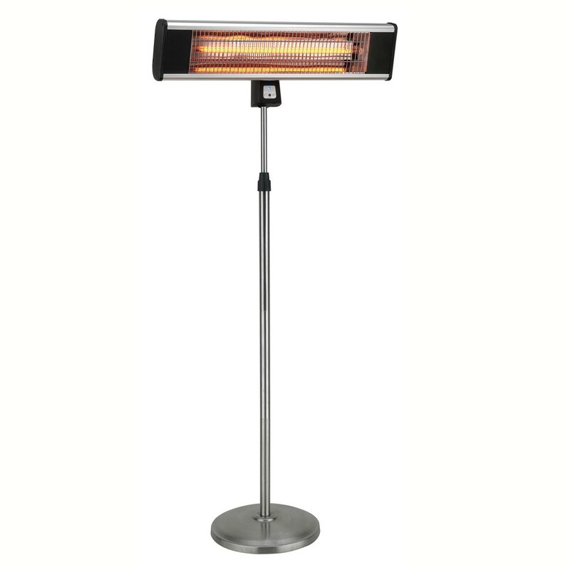 Hetr Infrared Pedestal Style 1500 Watt Electric Patio Heater