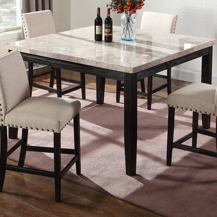 Wilber Marble Counter Height Dining Table