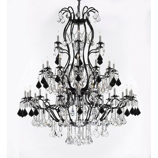 Rosdorf Park Marshall Wrought 37-Light Chandelier
