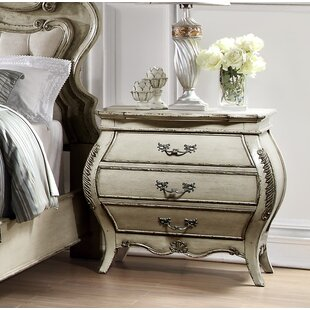 Rhinecliff 3 Drawer Nightstand by Rosdorf Park