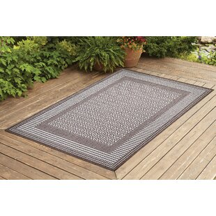 Satter Dark Brown Indoor/Outdoor Area Rug