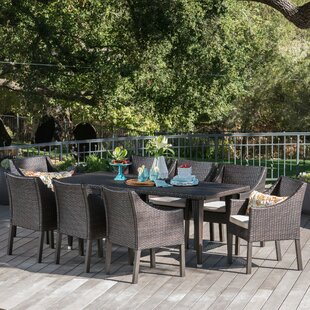 Luebbert Outdoor 9 Piece Dining Set with Cushions