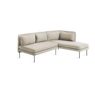 Bloke Armless Sofa with Left Arm Chaise