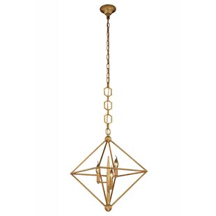 Deanda 3-Light Geometric Chandelier by Brayden Studio