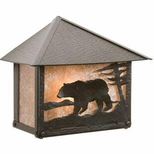 Best Bear 1-Light Outdoor Flush Mount By Steel Partners