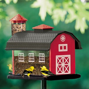 Artline Red Barn Nyjer/Thistle Decorative Bird Feeder