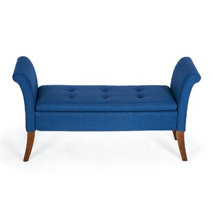 Yokoyama Settee Upholstered Button Tufted Storage Bench by George Oliver Savings