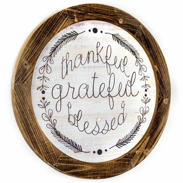 "/""Gratitude/"" 2 sided small hanging laminated paper sign Positive Inspirational"