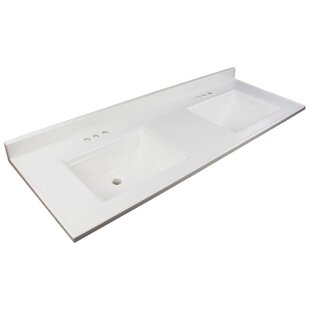 Best Price Camila 61 Double Bathroom Vanity Top ByTransolid