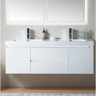 Valenti LED 60 Wall-Mounted Double Bathroom Vanity Set By Orren Ellis
