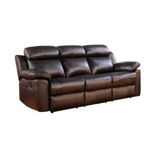 Bima Leather Reclining Sofa by Red Barrel Studio
