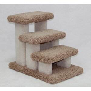 Heinrich Doggie Carpeted 3 Step Pet Stair