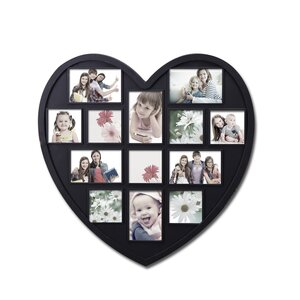 13 Opening Decorative Heart Shaped Wall Hanging Picture Frame