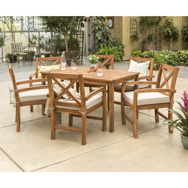 "Joss & Main Rectangular 6 - Person 60"" Long Dining Set with Cushions & Reviews"