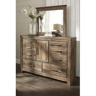Loon Peak Frye 6 Drawer Combo dresser with Mirror