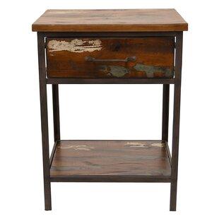 Loon Peak Palladino Wood and Metal End Table