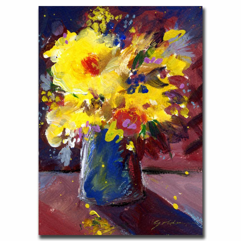 Trademark Art Yellow Flowers By Sheila Golden Painting Print On Canvas Wayfair