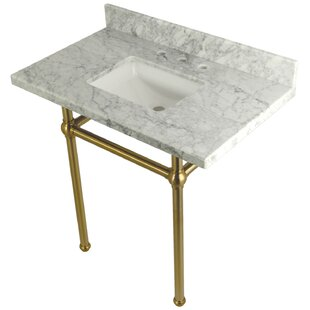 Compare prices Carrara Marble 36 Single Bathroom Vanity Set By Kingston Brass