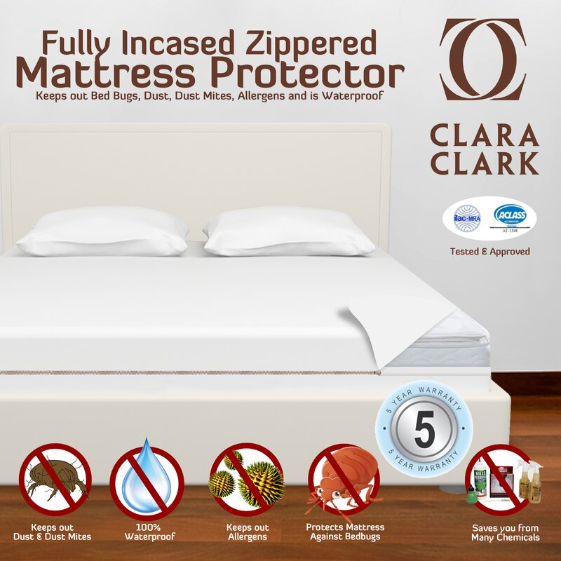mattress in protection cotton bath bedding bed one with all bug protector blocker product rich