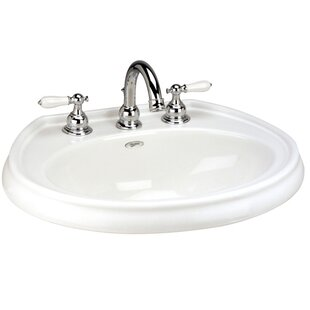 Mansfield Plumbing Products Waverly Vitreous China Circular Drop-In Bathroom Sink with Overflow
