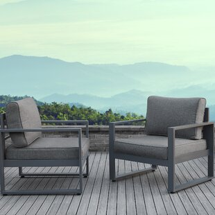 Baltic Patio Chair with Cushion (Set of 2)