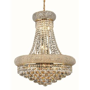 Jessenia 14-Light Crystal Chandelier by Willa Arlo Interiors