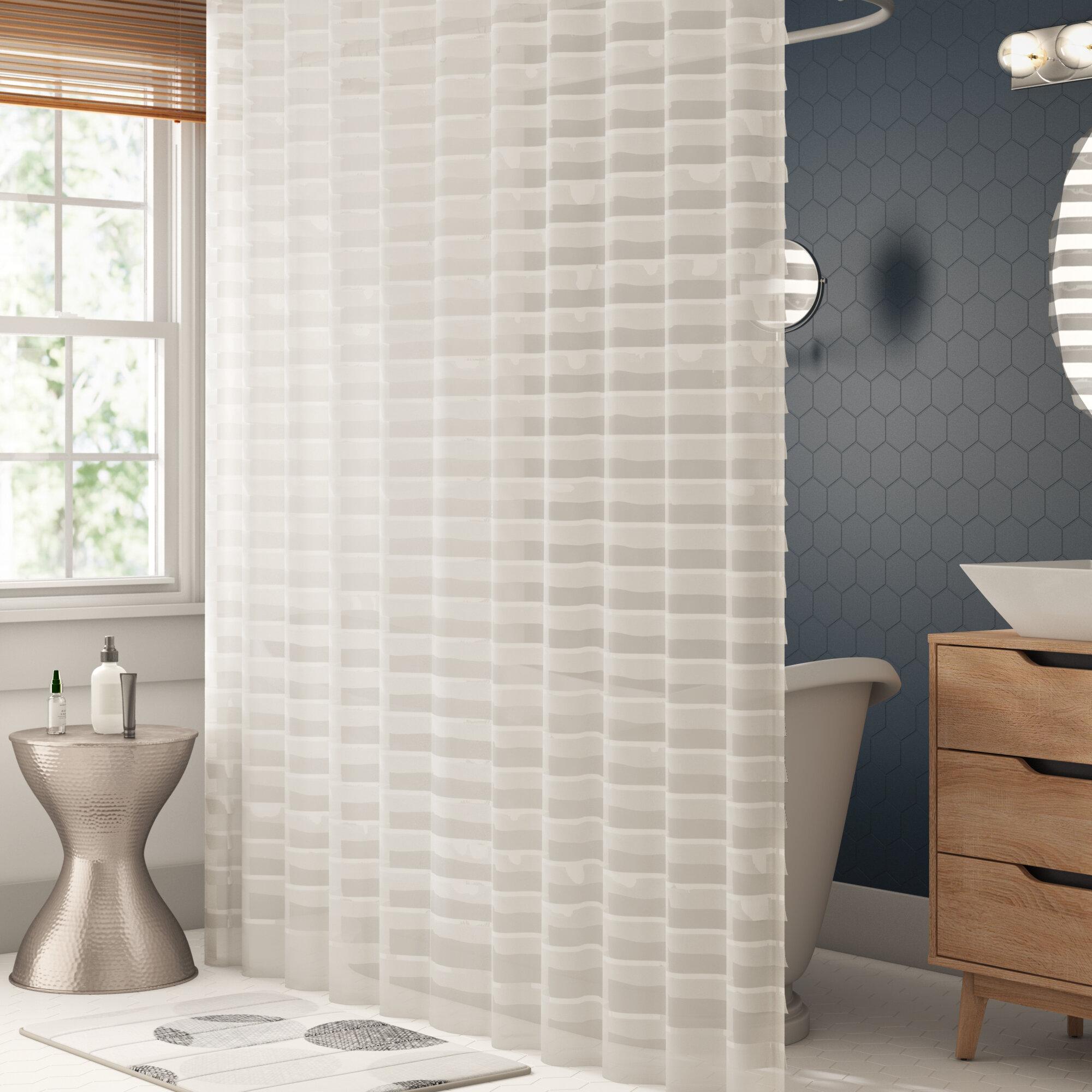 Kareem Striped Single Shower Curtain Reviews Joss Main