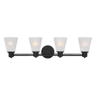 Reviews Selinsgrove 4-Light Vanity Light By Red Barrel Studio