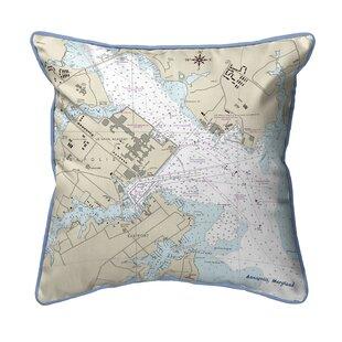 Skelmersdale Map Extra Large Zippered Indoor Outdoor Throw Pillow