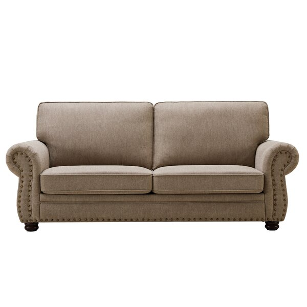 Alcott Hill Norberto 81 89 Wide Rolled Arm Sofa Reviews Wayfair
