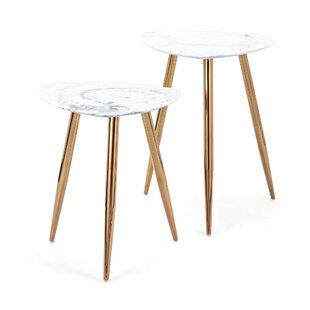Mercer41 Colbert Presto 3 Piece Marble Tables (Set of 2)