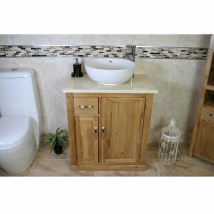 Degeorge Solid Oak 750mm Free-Standing Vanity Unit by Belfry Bathroom