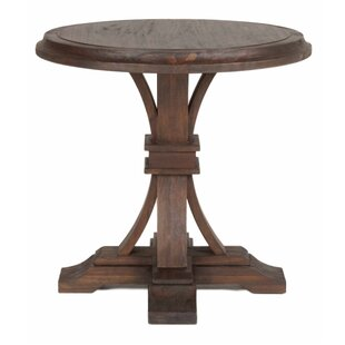 Lucien Graceful Round Wooden End Table