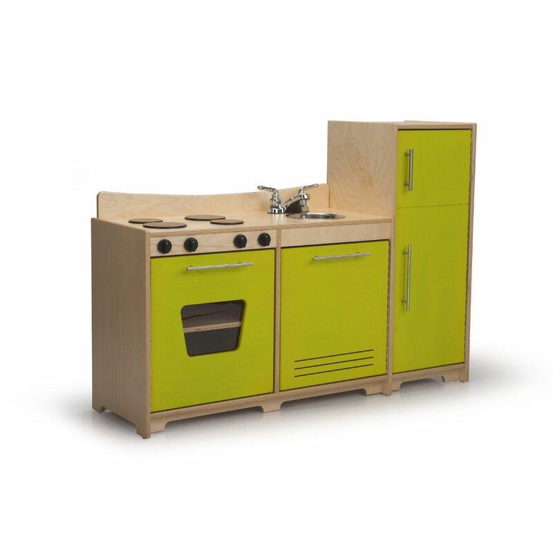 Whitney Bros 3 Piece Contemporary Toddler Kitchen Set Wayfair