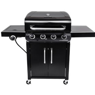 Performance 4-Burner Flat Top Propane Gas Grill With Cabinet By Char-Broil