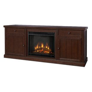 Cassidy Entertainment Unit with Electric Fireplace by Real Flame