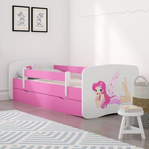 Kinderbett Cerna mit Matratze und Schublade Roomie Kidz Liegefläche: 80 x 180 cm| Farbe: Rosa / Weiß | Kinderzimmer > Textilien für Kinder > Kinderbettwäsche | Roomie Kidz