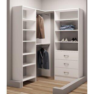 Compare prices Demure Design 59.5W - 62.25W Closet System ByTidySquares Inc.